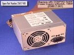 Power supply steady-state 145 watts with switch
